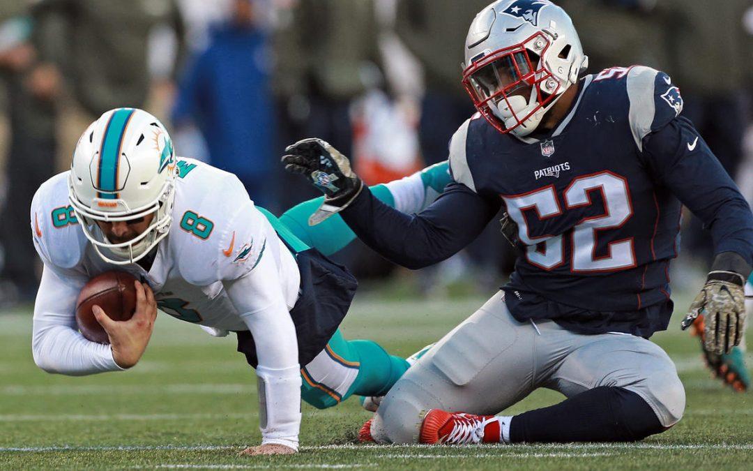 Boston Herald highlights Elandon Roberts standout performance vs. Dolphins