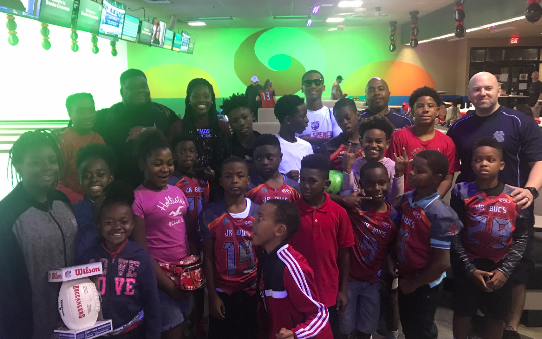 Mike Evans Foundation Rolls a Strike – Catch for Christmas Charity Bowling Event