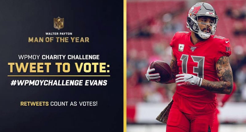 Mike Evans Nominated for Walter Payton NFL Man Of The Year Award